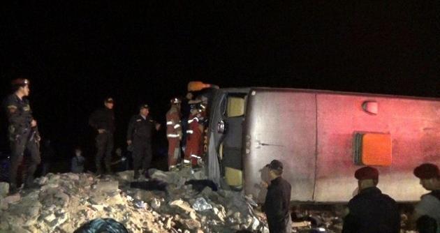Chimbote: ómnibus vuelca en la Panamericana Norte y deja 14 heridos