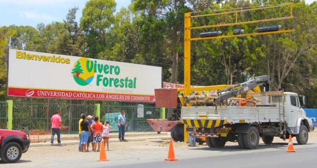 Instalan sem foro en los exteriores del vivero forestal de for Proyecto productivo de vivero forestal
